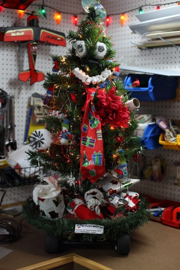 TreeBot Lit Up